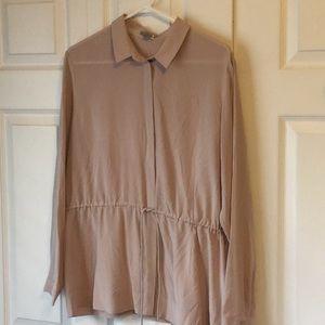 COS silk button down shirt
